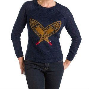 Woolrich Deep Blue Sea Snowshoe Mohair Sweater
